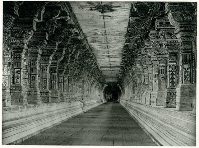 c1446-corridorof1000pillarsinramanathaswamytempleinrameswaram-tamilnadu1928